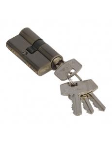 Цилиндр ключевой, ключ-ключ, 60 мм, 5 ключей, античная бронза