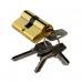 Цилиндр ключевой, ключ-ключ, 60 мм, 5 ключей, золото