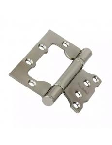 Петля стальная универсальная с 2-мя подшипниками, без врезки, матовый никель