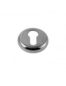 Накладка на цилиндр круглая, полированный хром