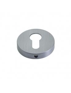 Накладка на цилиндр круглая, матовый хром