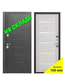 Входная дверь 10 см Троя Серебро Лиственница беж.