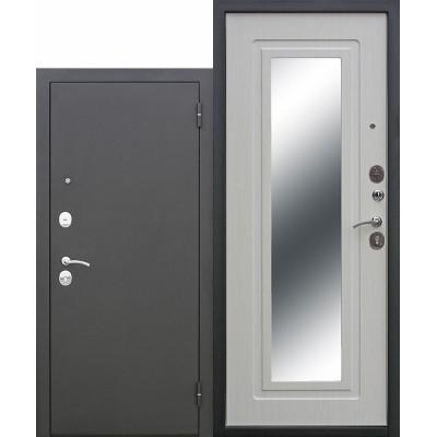 Входная дверь Царское зеркало Муар Белый ясень